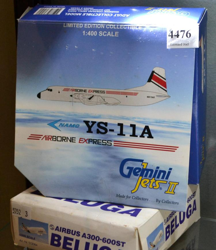 TWO BOXED MODELS; AIRBUS A300-600ST; NAMC YS-11A