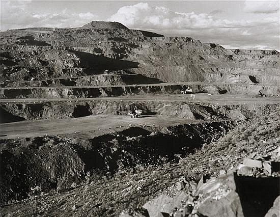 Wolfgang Sievers (1913-2007) Hamersley Iron Open Cut Mine at Mount Tom Price, Western Australia 1971 silver gelatin photograph