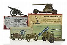 BRITAINS HOWITZER 1725; 2 X ROYAL ARTILLERY GUN AND AMMUNITION 1263- REPAIRS TO BOXES;