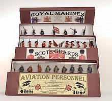 BRITAINS SETS 1895; 1905; 332; 333;240; 75; 2084 AND ROYAL MARINES