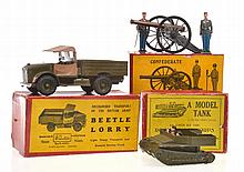 3 X BRITAINS SETS INCLUDING MODEL TANK NO.1203;