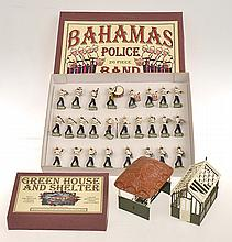 2 X SOLDIER PAC SETS INCLUDING P128 BAHAMAS POLICE BAND; AND  P153 & P154 GREEN HOUSE AND SHELTER