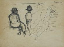 CHARLES BLACKMAN (1928-2018) Untitled 1965 ink on paper