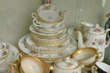 COLLECTION OF ASSORTED PORCELAIN TEA WARE, INCLUDING ROYAL CROWN DERBY, ROYAL WORCESTER AND MINTON