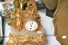 A 19TH CENTURY ORMOIN MANTLE CLOCK