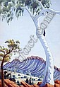 OSCAR NAMATJIRA (1922 - 1991) Ghost Gum signed, Oscar Namatjira, Click for value