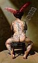 JILL DEL MACE (1947 - ) Tattooed Queen III signed, Jill Del'Mace, Click for value
