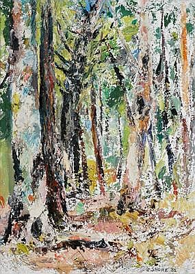 ARNOLD SHORE (1897 - 1963) Tall Timber, 1962
