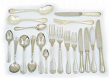 A COMPREHENSIVE SUITE OF CHRISTOFFLE CAPRICORN SILVER PLATE FLATWARE