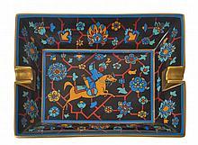 A HERMES PERSIAN HORSEMAN ASHTRAY
