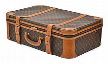 A SATELLITE SUITCASE BY LOUIS VUITTON