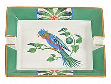 A HERMES PARROT ASHTRAY