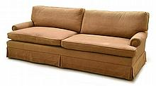 A GOOD QUALITY PAIR OF MODERN THREE SEAT SOFAS