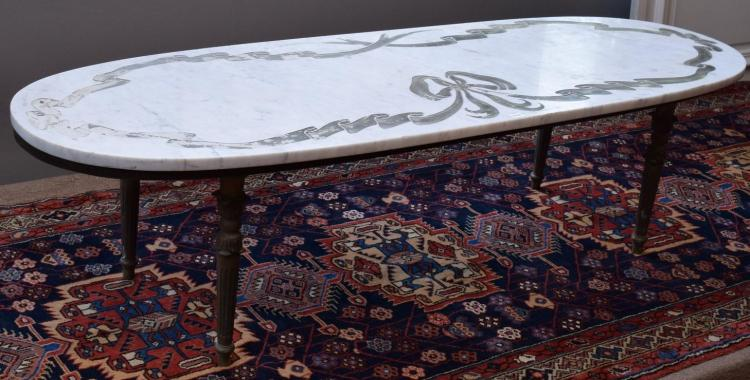 A Louis Xvi Marble Top Coffee Table