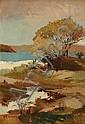 Julian Rossi Ashton (1851-1942) Grotto Point oil on canvas on board