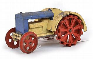 DINKY PRE-WAR NO.22E FARM TRACTOR, A/F UNBOXED (F)