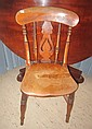 A 19TH CENTURY PROVINCIAL ELM SIDE CHAIR