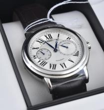 A RAYMOND WEIL WRISTWATCH WITH AUTOMATIC WRISTWATCH, SILVERED DIAL WITH ROMAN NUMERALS, SUBSIDIARY DIALS, STAINLESS STEEL CASE WITH T..