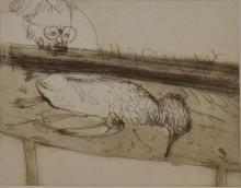 JOHN OLSEN (BORN 1928) Penguin 1964 etching edition 18/40