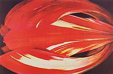 TIM MAGUIRE (born 1958) Closed Tulip lithograph edition 69/80