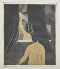 GEORGE BALDESSIN (1939-1978) Night Personages etching edition 25