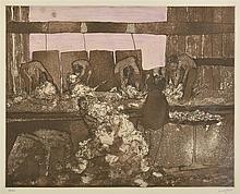 CLIFTON PUGH (1924-1990) Shearing Shead etching edition 36/40