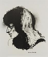 NOEL COUNIHAN (1913-1986) Image of Leah II lithograph artist's proof