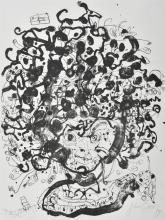 JOHN OLSEN (born 1928) Potrait Brett Whiteley artist proof VIIII/X, lithograph