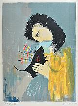 DAVID BOYD (1924-2011) Bull Efigy screenprint edition 20/60