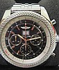 A GENTLEMANS BREITLING AUTOMATIC CHRONOGRAPH WRISTWATCH FOR BENTLEY, BLACK DIAL, A44364 / 2295564.