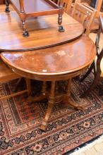 A VICTORIAN BURR WALNUT GAMES TABLE (faults to surface)