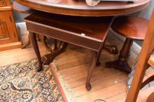 TWO QUEEN ANNE STYLE COFFEE TABLES AND TWO WINE TABLES
