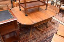 A REGENCY STYLE EXTENSION TABLE