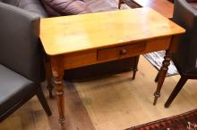 A VICTORIAN HUON PINE HALL TABLE