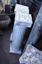 A COLLECTION OF FOUR CLASSICAL COMPOSITE PEDESTALS