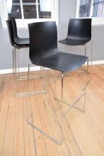 A SET OF FOUR ITALIAN BAR STOOLS MADE BY ARPER