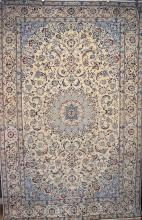 A SUPER FINE NAIEN-SILK AND LAMBSWOOL PILE RUG (SIGNED PIECE), VERY FINELY KNOTTED, LOTS OF SILK (APPROX. 450,000 KNOTS PER SQ. METE...