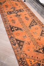 PERSIAN RARE LORI HALL RUNNER CIRCA 1960S - VERY COLLECTABLE, NATURAL DYES, WOOLEN PILE-HAND KNOTTED, ORIGIN IRAN, 388 X 110, RRP $4500