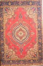 PERSIAN TABRIZ CIRCA 1940''s, WOOL HANDMADE LOW PILE, ORIGIN IRAN, 285 X 190, 44P $2,700