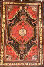 PERSIAN TRIBAL TOUSERKAN - WOOL PILE NEW PIECE - NATURAL DYES, ORIGIN IRAN, GEOMETRICAL MOTIFS, 160 X 108, RRP $890
