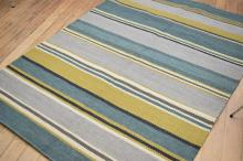 HAND WOVEN KILIM - VERY HARDWEARING, THICK TEXTURE - 100% WOOL, 215 X 154CM, RRP $700