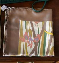 A SILK SCARF BY LIBERTY OF LONDON