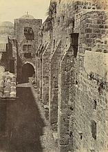 AUGUSTE SALZMANN (FRENCH, 1824-1872) Jerusalem: Saint-Sepulchre, Face Quest - Rue du Patriarche 1854 salt print from paper negative...