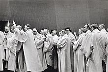 HENRI CARTIER-BRESSON (FRENCH,1908-2004) Open Air Mass At The Le Bourget Airport 1980 silver gelatin press print