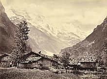 FRANCIS FRITH (English, 1822-1898) Pair of Swiss Scenes Untitled (View over Swiss village) Head of the Lauterbrunnen Valley item 320...