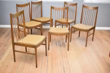 A SET OF SIX 1960's DANISH DINING CHAIRS BY 'SIBAST'