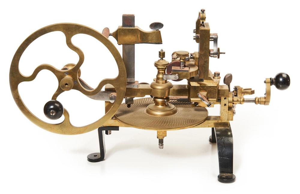 A Swiss Watchmakers Wheel Cutting Engine With Associated Too