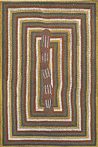 GEORGE TJAPANANGKA (BORN 1938) Untitled 1994 acrylic on linen