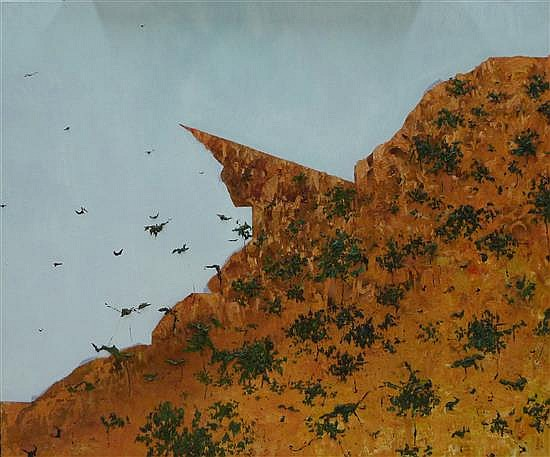 MATTHEW SIMMONS, THE PILBARA 2008, OIL ON CANVAS, 102 X 122CM,