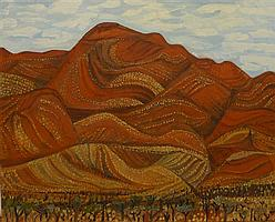 JILL NOBLE, ORMINSTON RANGES, OIL ON CANVAS, 61 x 76cm